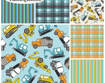 FQ Bundle Tractor Coordinates Flannel Fabric - Contains 6 Fat Quarters