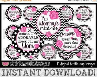 "20% OFF Best Mom Ever (Pink) - INSTANT DOWNLOAD 1"" Bottle Cap Images 4x6 - 644"