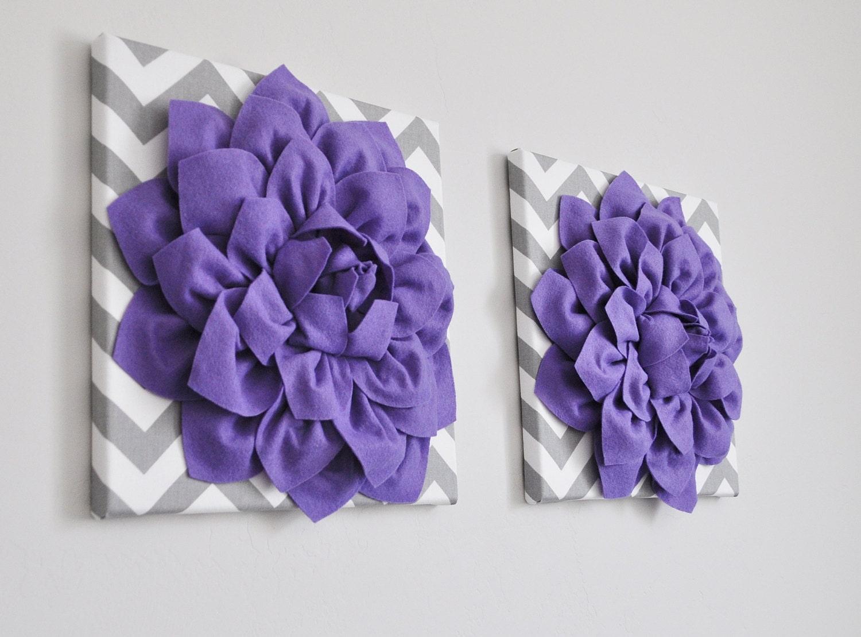 nursery art wall decor lavender dahlia on gray and white. Black Bedroom Furniture Sets. Home Design Ideas