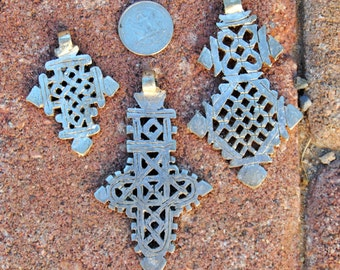 3 Coptic Cross Pendants