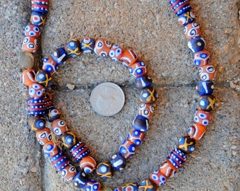 African Mixed Round Krobo Beads 10mm