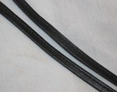 2 yards black pleather non stretch cord cording lace up sewing trim narrow 1/8""