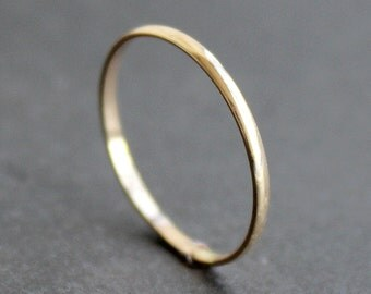 10K Solid Gold Ring - 1.5mm Simple Half Round Band - Classic Wedding Band (Size 2 - 9)