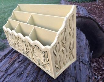 Yellow Desk Organizer Lerner Faux Wood Letter Storage