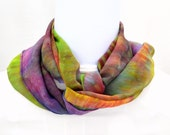 Hand dyed Silk Scarf,  Silk Chiffon Scarf, 52 x 11 inches, Ready to Ship, Made in Australia by SallyAnnesSilks on Etsy S119