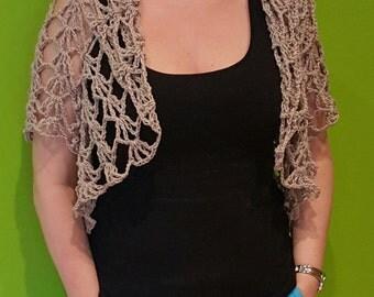 Crochet shrug with sport sleeves