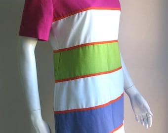 80s colorblock dress