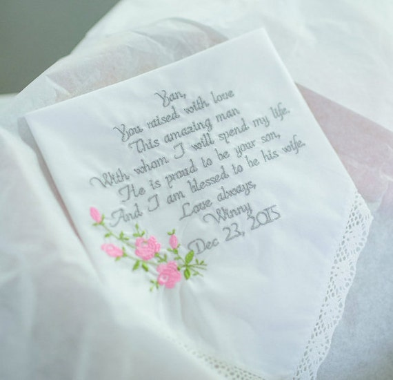 Wedding Gifts Mother Groom : Mother of the Groom Gift Mother of the Groom Embroidered Wedding ...