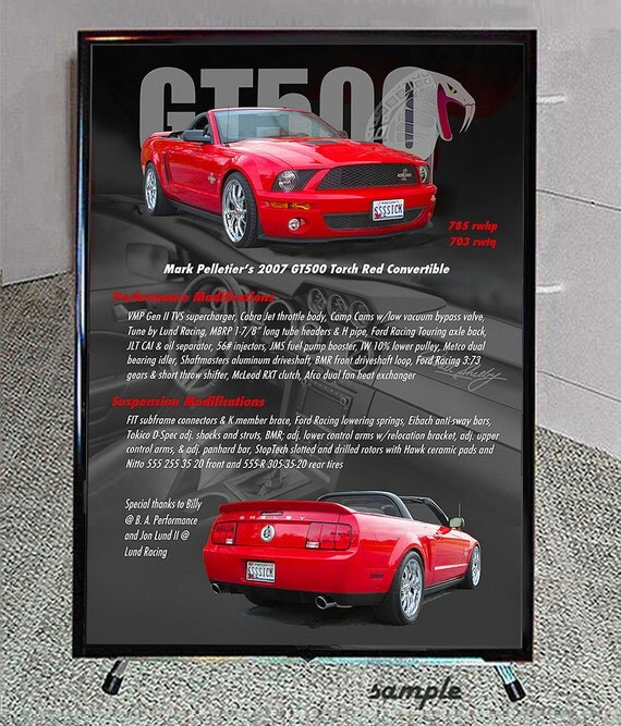 CAR SHOW Display Sign Reader Board Custom Art