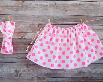 Skirt & Headband; Choose from Different Fabrics