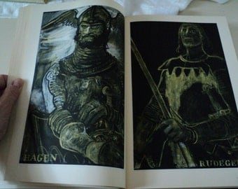1960s The Nibelungenlied. Heritage Press in Slipcase. Translated From the German By Margaret Armour;  Illustrated By Edy Legrand