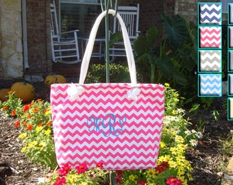 Hot Pink Chevron Bag,  **SALE** in 9 Colors, Bridesmaid Gift, Maid of Honor, Matron of Honor