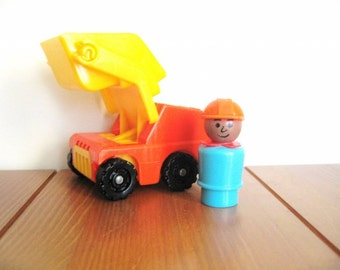 Fisher Price Scoop Loader with Construction Man