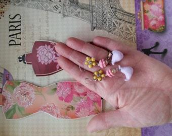 PEEP vintage jewelry hand SCULPTED peep earrings