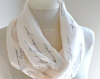 French script infinity scarf