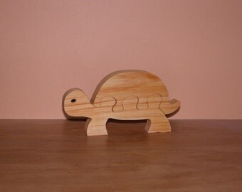 Child's Toy - Easy Wooden Turtle Puzzle - Kid's Toy - Child's Decor