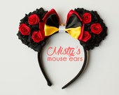 Inspired Queen of Hearts from Alice and Wonderland Rose Mouse Ears
