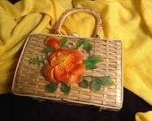Straw handbag Simon vintage wicker