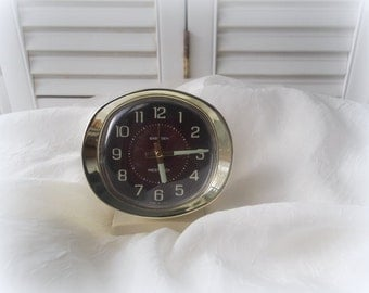 Vintage Baby Ben Alarm Clock 1960's Westclox Alarm Clock Mid Century Bedroom Decor White Alarm Clock Home & Living