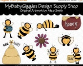 ON SALE Bumbles Clip Art Digital Graphics Scrapbook Card Making Supply INSTANT Download
