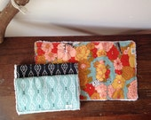 Aztec Baby Burp Cloths, Chenille, Black and Ivory, Sky Pale Teal Blue, Geos Triangles Diamonds, Autumn Floral, Owl Deer, Meadow Wildlife