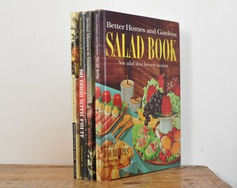 Vintage Cookbook Lot Better Homes and Gardens Cook Book Set of 4 Bread Salad Fruit Holiday
