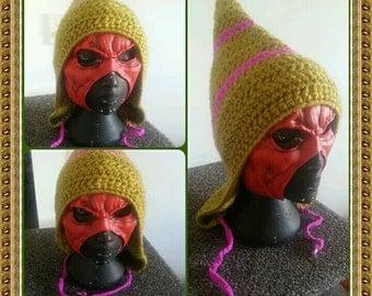 Forest Pixie crochet pixie hat.