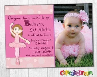 Ballerina Birthday Invitation, Ballet Party