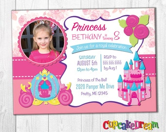 Princess Invitation, Princess Birthday Invitations, Royal Ball