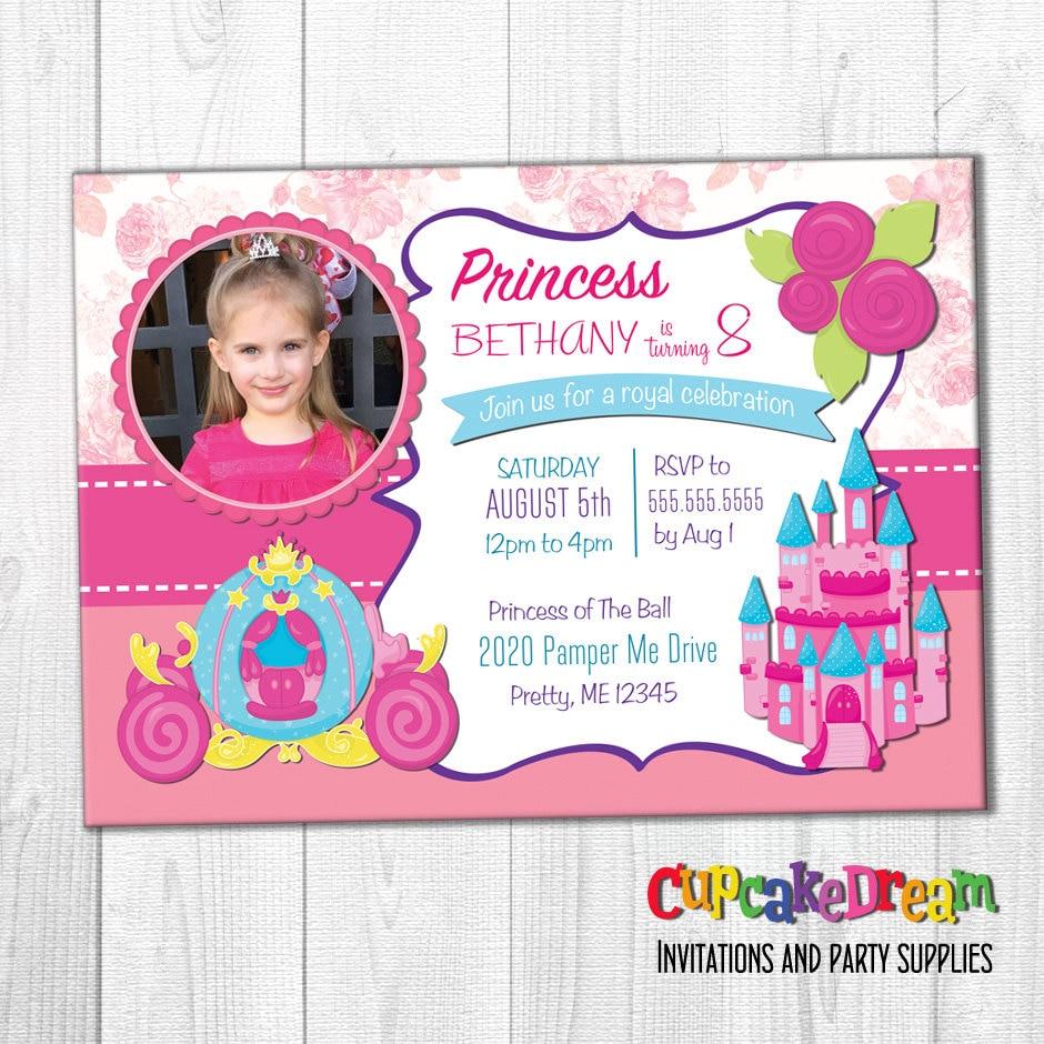 Princess Invitation 2nd Birthday Invitations Royal Ball