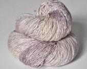 Blueberry vanilla ice cream - Tussah Silk Fingering Yarn