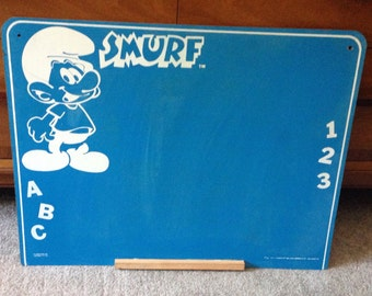 Smurf Blue Learning Chalkboard