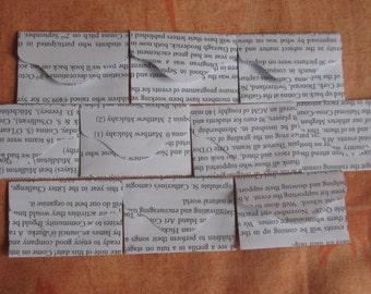 "10 Mini Black and White Envelopes - Recycled Newsletter Book Envelopes - Recycled Mini Envelopes - 2 3/8"" x 1 1/2"""