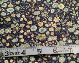 Fabric Destash - Cotton Blue Flower Patterned