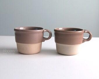 2 Bennington Potters No. 1960 Stacking Mugs/Cups by David Gil