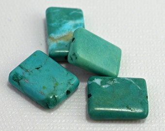 Chalk turquoise rectangles, green, 20x16mm - #1880
