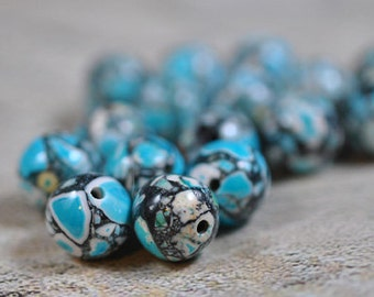 Resin beads - 2 colors 10mm - #0041