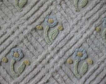 vintage baby chenille bedspread