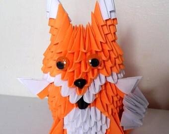 3D origami Fox