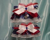 Patriotic 4th of July Sparkling Garter Set