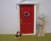 Fairy Door  Sparkle Bright Red