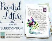PAINTED LETTERS: 1 month subscription