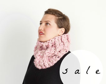 SALE | LAST CHANCE! | The Brackish Cowl | Blossom | Cozy Chunky Knit Textured Infinity Cowl Scarf