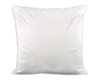Down/Feather Pillow Inserts--Individual Pillow Sham Inserts-18x18-20x20-22x22-24x24-26x26-Your Requested Size and Number of Inserts