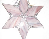 Shades of Pink/purple Streaky Glass 6 point star