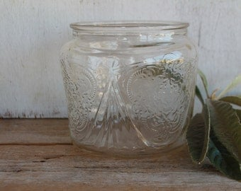 Ornate Vintage Glass Jar