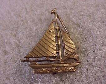 Vintage Sailboat Pin