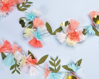 Floral Bouquet Garland 7ft