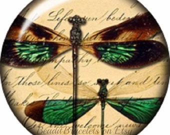 Mini Snap Charm Dragonfly that works with Petite Ginger Snaps Jewelry and other mini snap jewelry, 12 mm Snap Charms