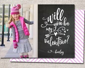 Valentine card, Photo Valentine card, Valentines, Modern Valentine cards, Printable Valentine cards, Kids Valentine cards (Be My Valentine)